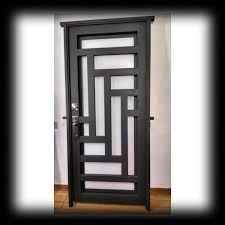 Resultado De Imagen Para Puertas De Herreria Minimalistas Puertas Principales De Forja Puertas De Fierro Puertas De Aluminio