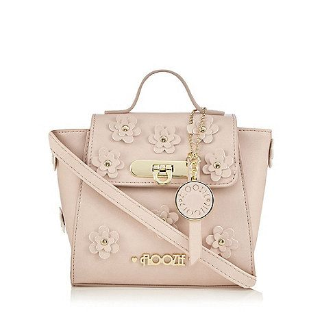 Floozie By Frost French Light Pink Flower Applique Mini Cross Body