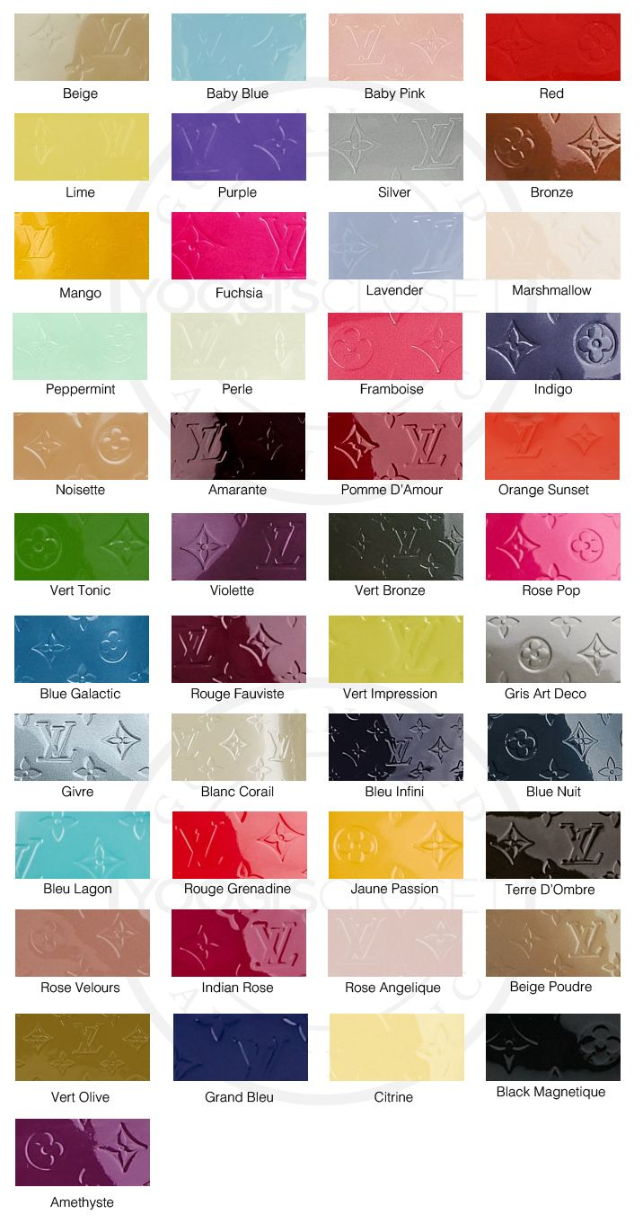 e851d9cca57e Louis Vuitton Vernis Color Guide and GREAT INFO about LV products in  general!