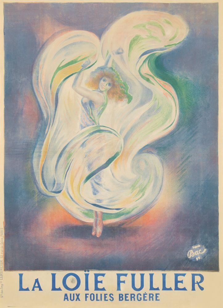 La Loie Fuller Aux Folies Bergere 1892 Art Nouveau Poster Art Nouveau Poster