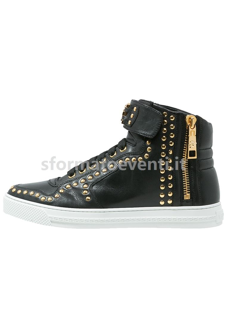 sneakers alte   Sneakers Alte - Black - Versace - Uomo ...