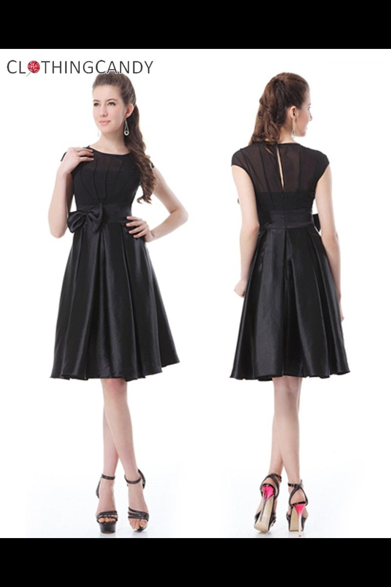 Black bow smart cocktail dress shop online for beautiful prom