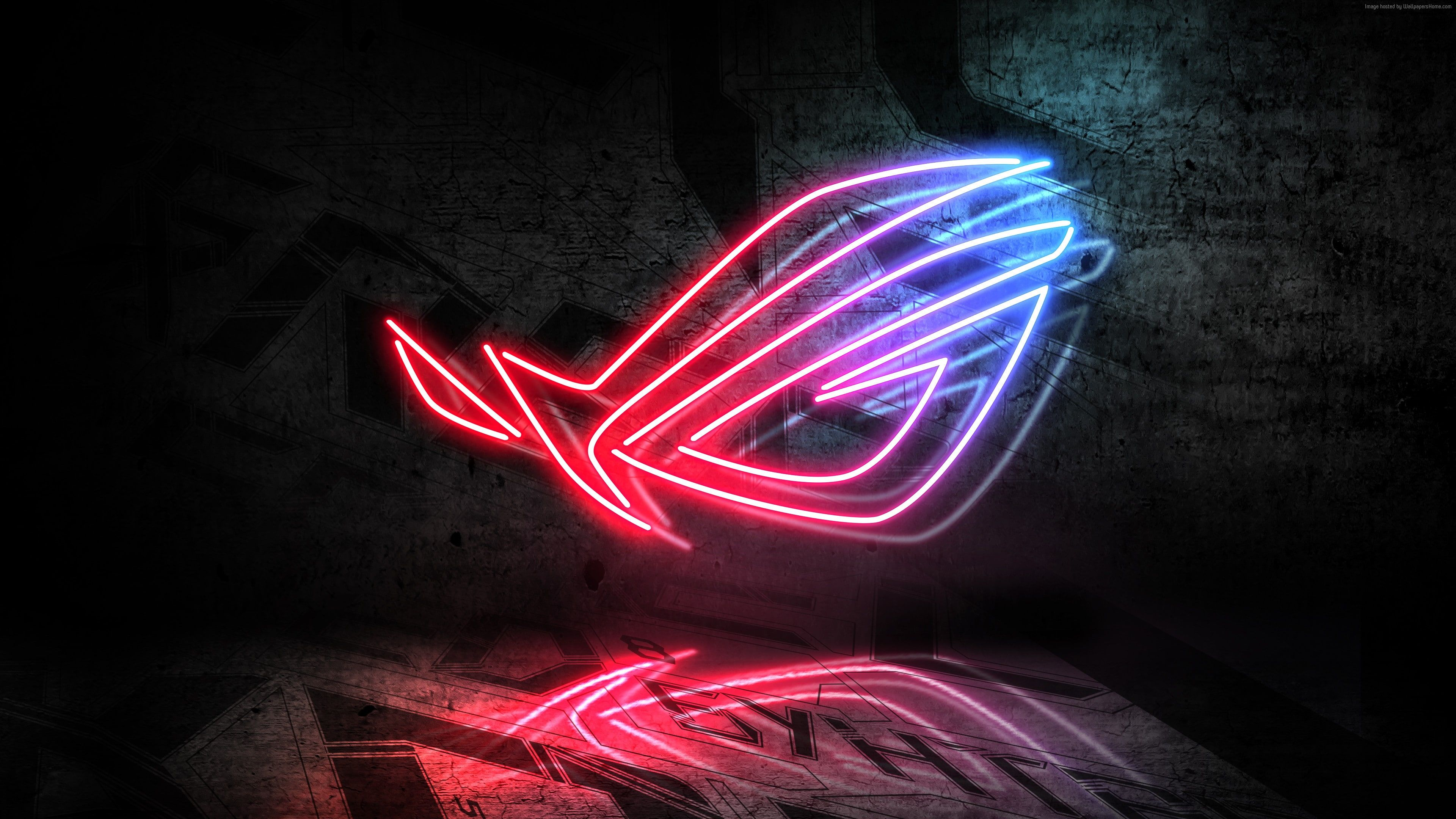 Neon ASUS 4K RoG 4K Wallpaper Hdwallpaper Desktop In