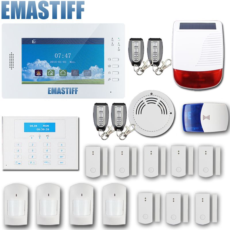 Compare Prices 868mhz Wireless Gsm Alarm System 7 Inch Touch Screen Home  Alarm With Bulit In