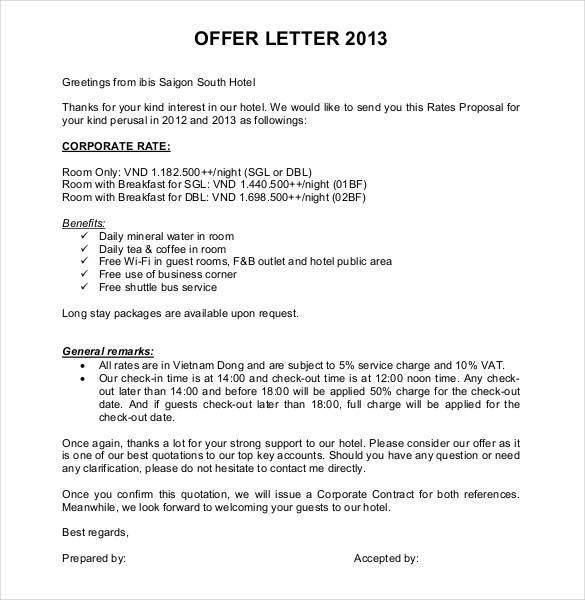 Offer Letter Template Free Word Pdf Format Amp Premium Sample