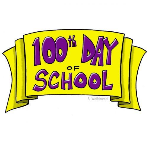 100th Day Of School Banner Clip Art From Pto Today 100 Days Of