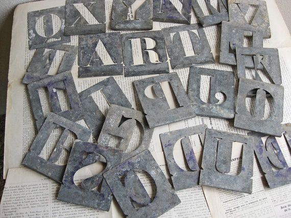 french metal letter stencils by histoires on etsy