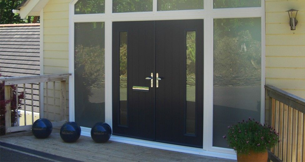 Black French Door Solidor Composite French Doors From Timber