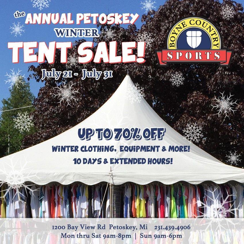Our 10 day winter tent sale starts tomorrow! If you're in