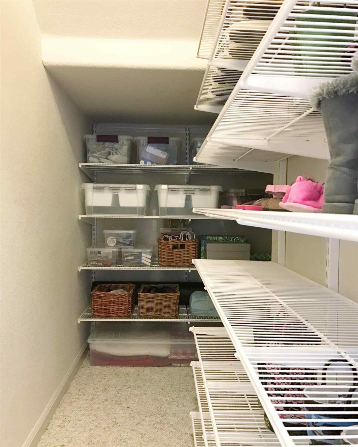 Best And Gorgeous Shelving For Under Stairs Closet Ideas With