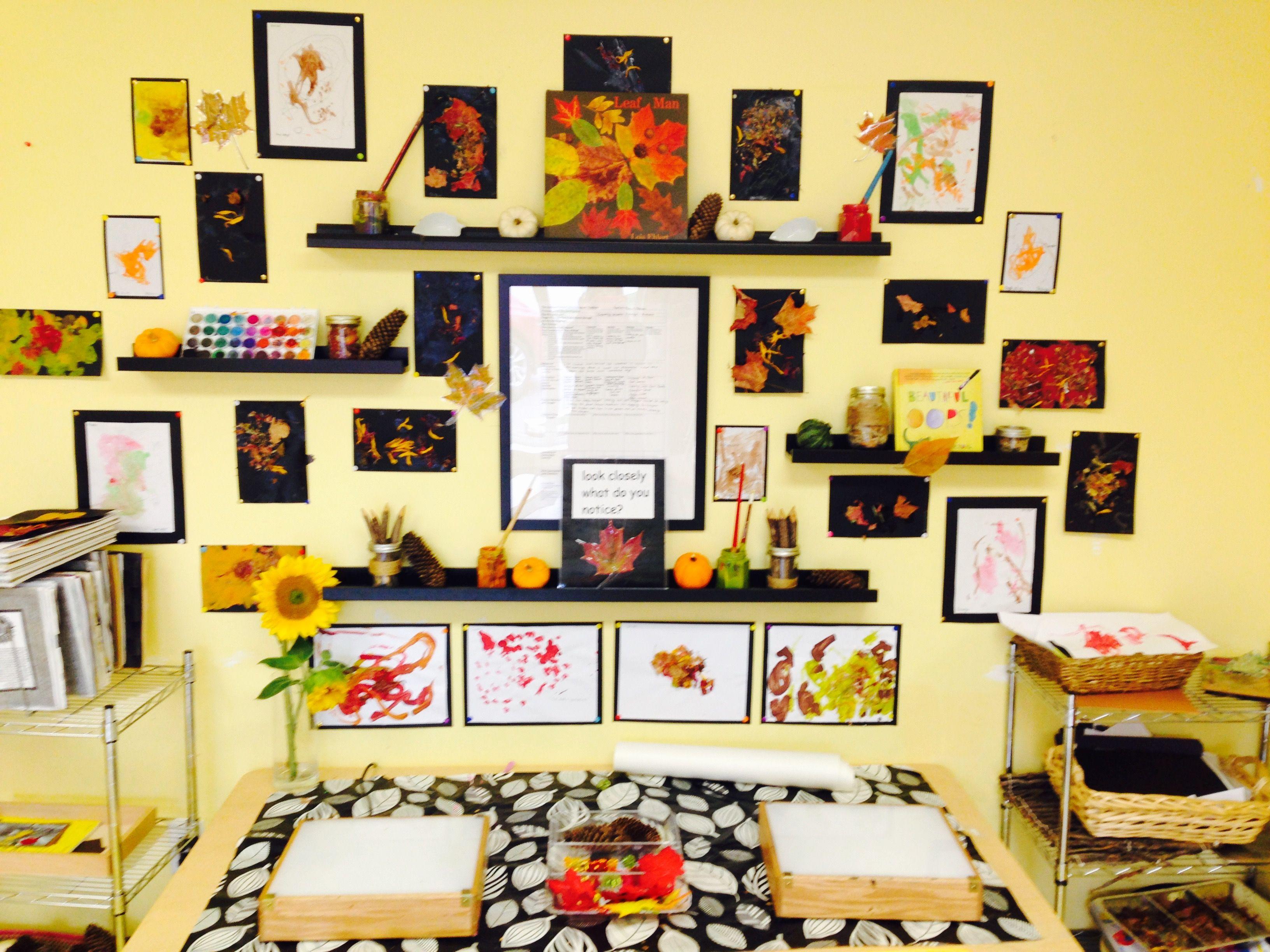 Reggio inspired classroom-Documentation of our fall investigation ...