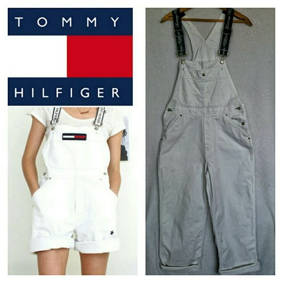 "Tommy Hilfiger Signature Overalls Sz M Tommy Hilfiger Signature Overalls. 28"" inseam. Excellent condition. Sorry no trades. Tommy Hilfiger Pants Straight Leg"