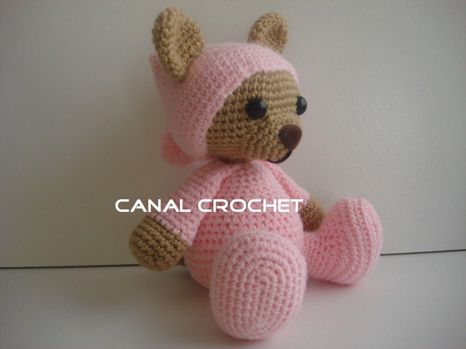 Amigurumi Oso Pijama : Canal crochet oso pijama amigurumi amigurumi