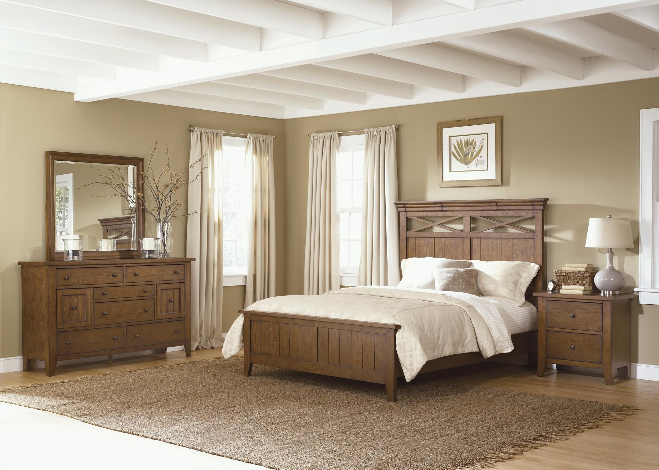 Etonnant Hearthstone Country Style King Panel Bed By Liberty Furniture | Wolf  Furniture