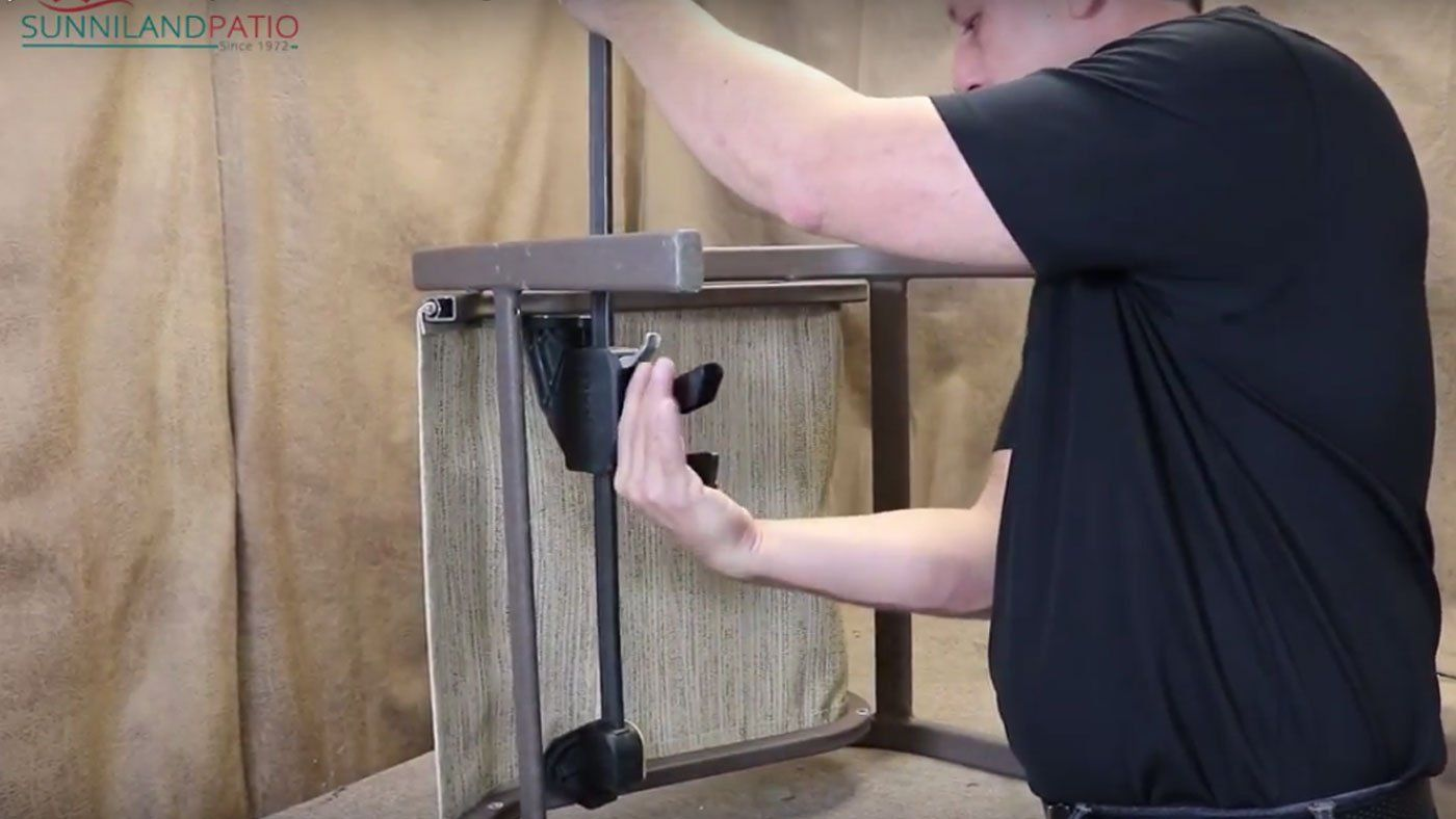 How to install patio furniture replacement slings diy
