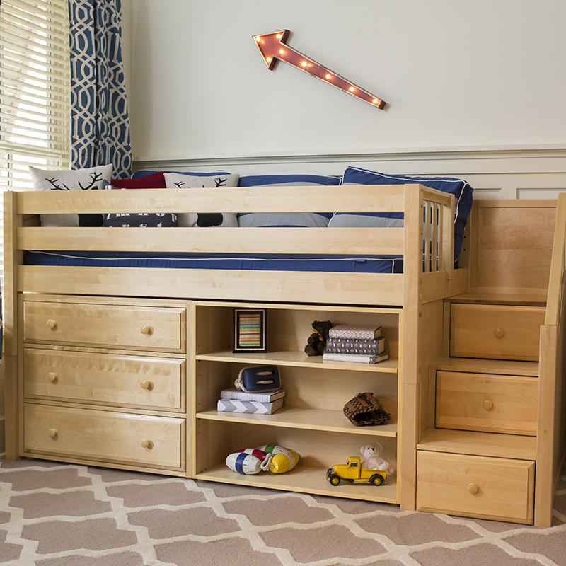 Low Lofts are great for young children or rooms with low