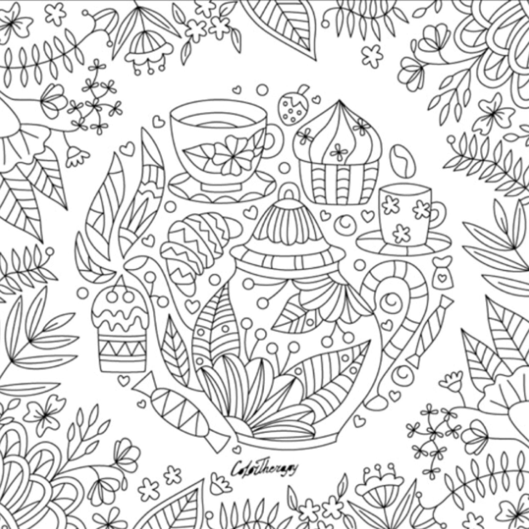 Pin Op Color Therapy Coloring Pages