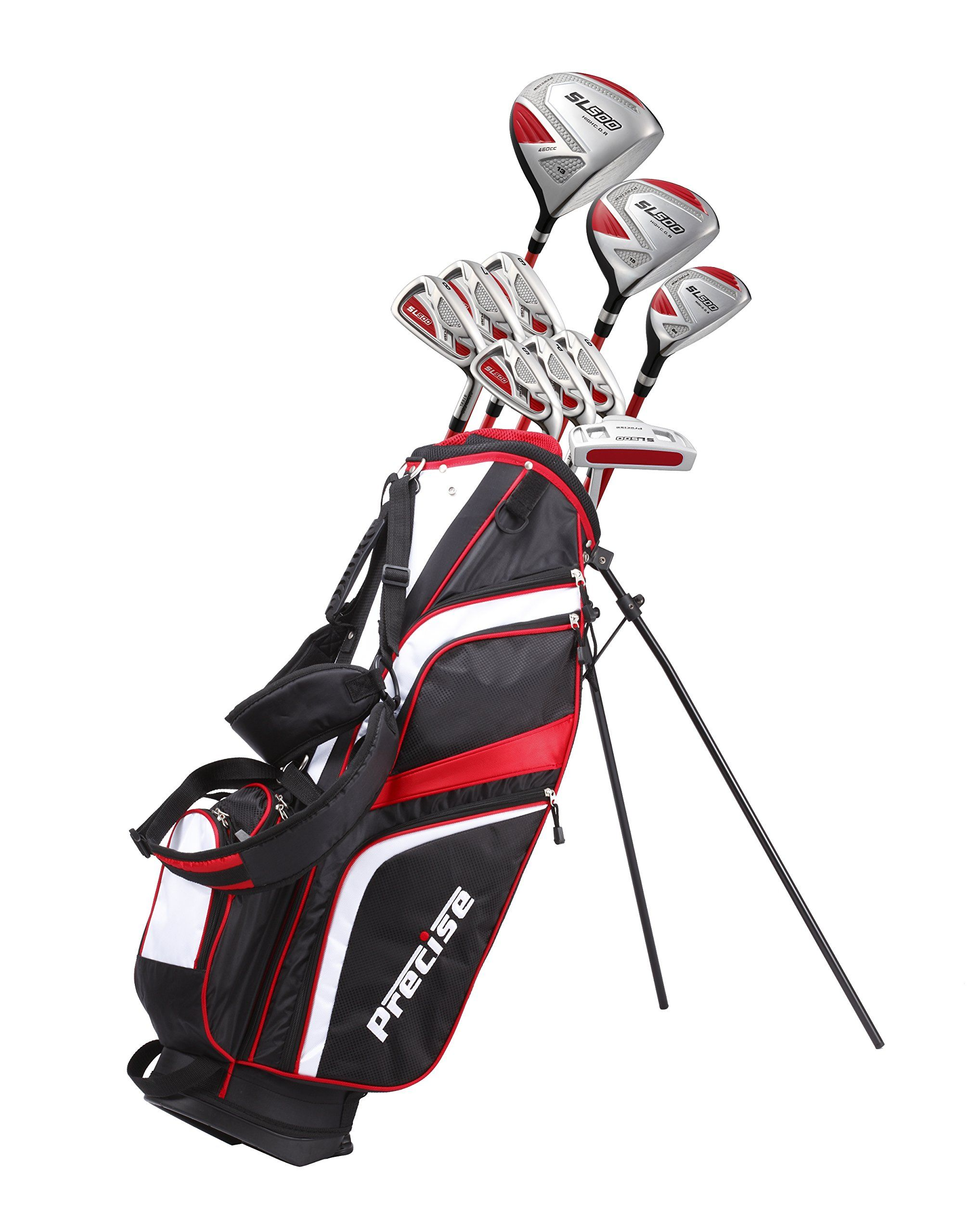 Golf Clubs - 15 Piece Ladies Womens Complete Right Handed Golf Clubs Set  Includes Titanium Driver S.S. Fairway S.S. Hybrid S.S. 6PW Irons Sand Wedge  Putter ... 640729d314