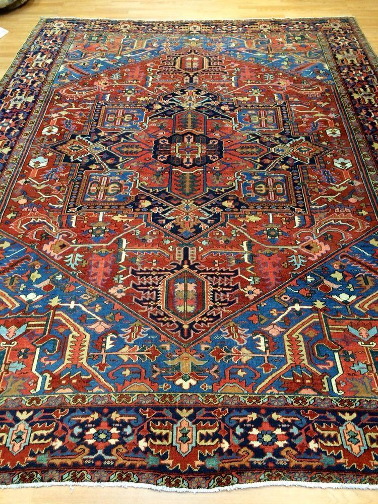 True Antique Persian Heriz Serapi Rug Furniture Rugs