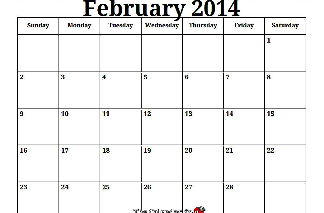 February 2014 Calendar Printable | Valentines Day! Use this ...