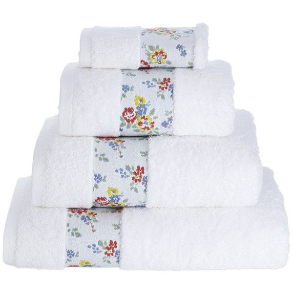 Cath Kidston Bleached Flowers Towel - Bath Sheet (1475 TWD) ❤ liked on Polyvore featuring home, bed & bath, bath, bath towels, blue, floral bath towels, cath kidston and blue bath towels