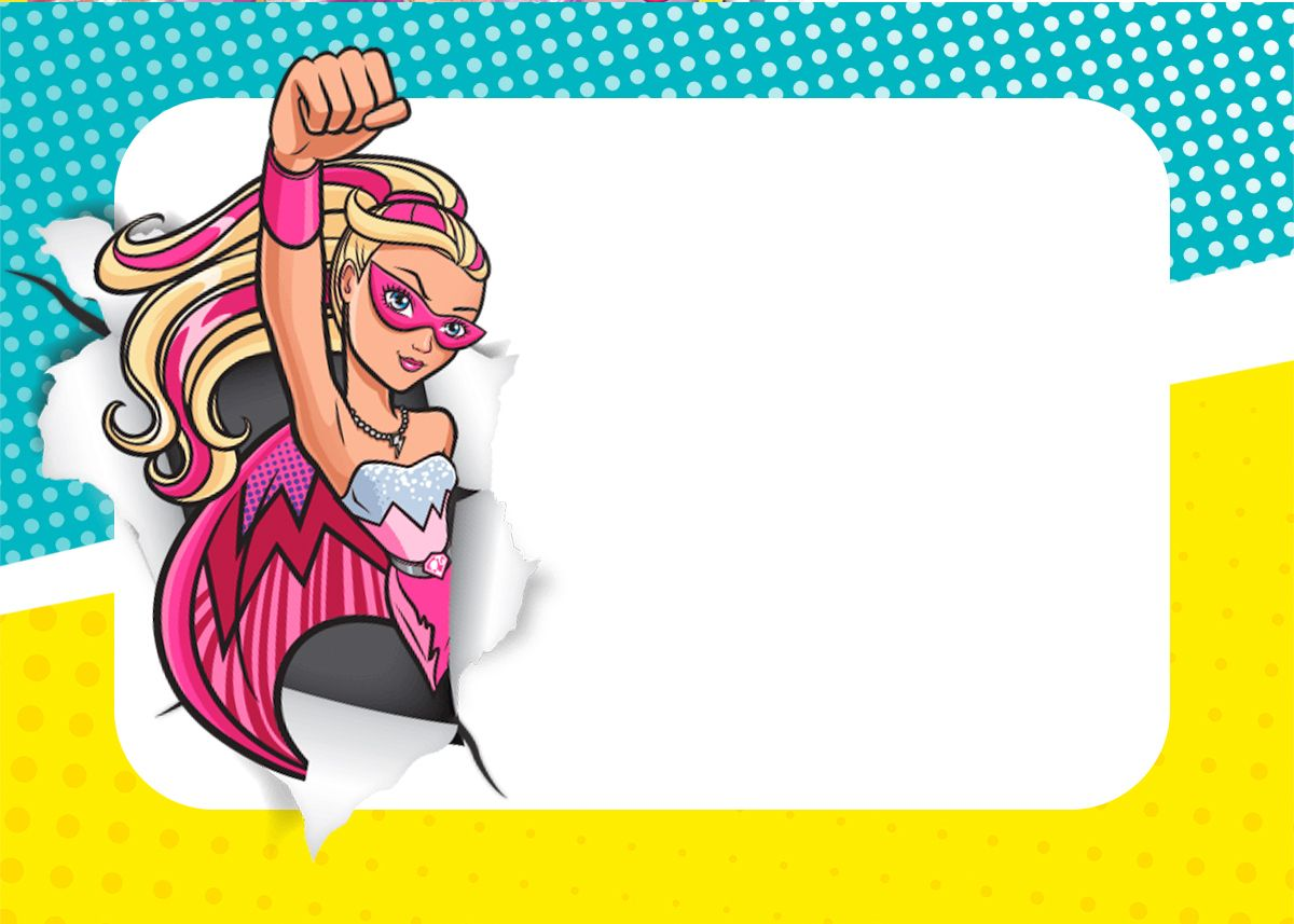 Convite Barbie Em Super Princesa Convite Barbie Aniversario Da