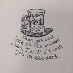 alice and wonderland quote tattoo