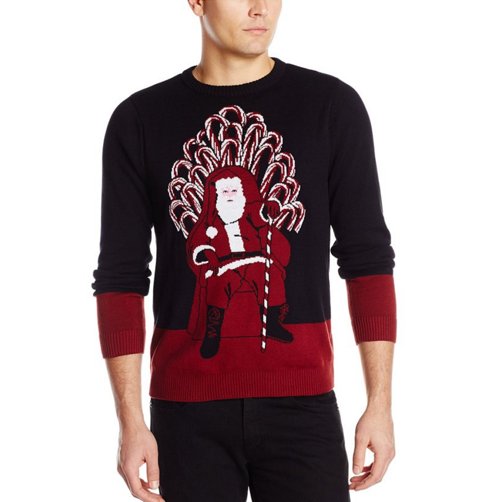 Winter is coming. Time is ticking closer to the moment we determine who will sit on the Candy Cane of Thrones. Will Santa remain in power? Or will the elves who resent him succeed in their plans to overthrow?   100% Cotton Hand Wash Unisex