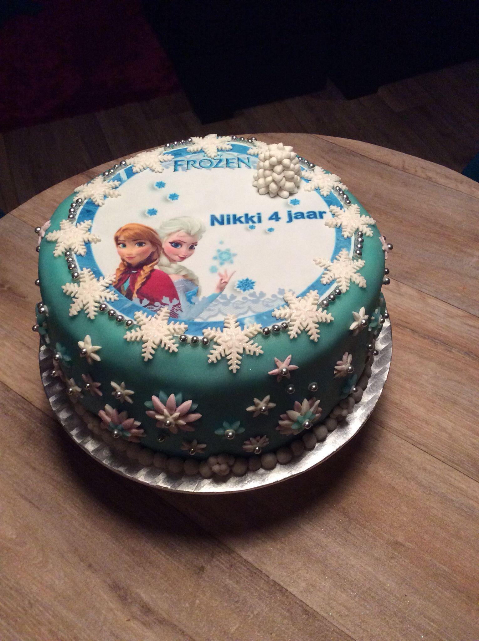 Frozen birthday cake for 4 year old homemade Pinterest