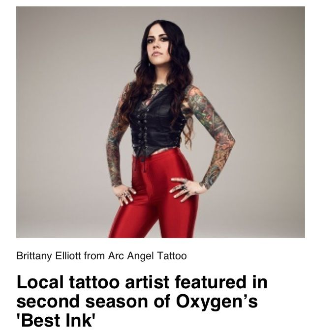 My friend Brittany Elliott will be on Best Ink on Oxygen tonight.  Check her out! Can't wait to see you Brittany!