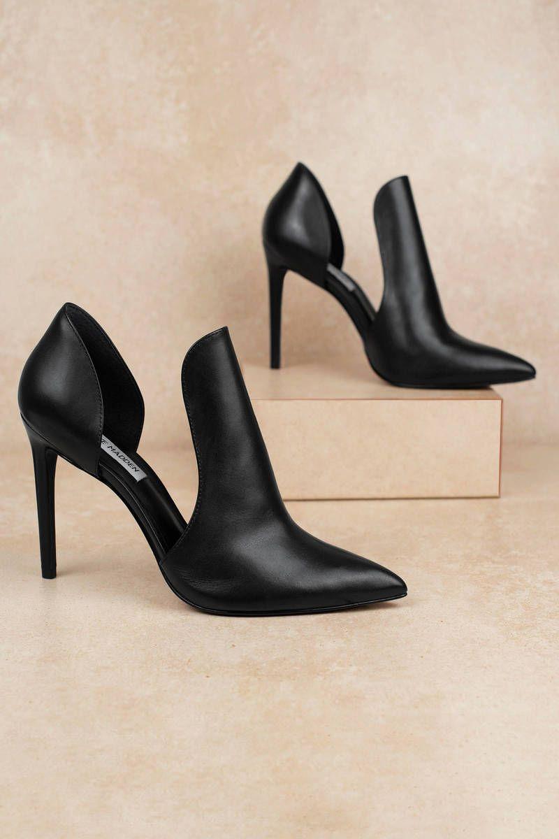 Black pointed toe heels, Stiletto heels