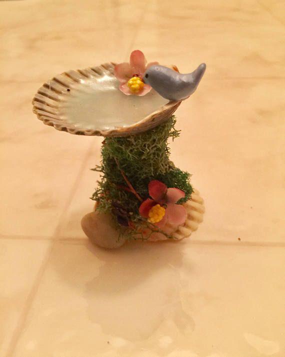 miniature bird bath fairy garden accessory accessoires de jardin f e et oiseaux. Black Bedroom Furniture Sets. Home Design Ideas