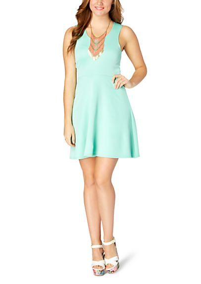 image of Classic Knit Skater Dress
