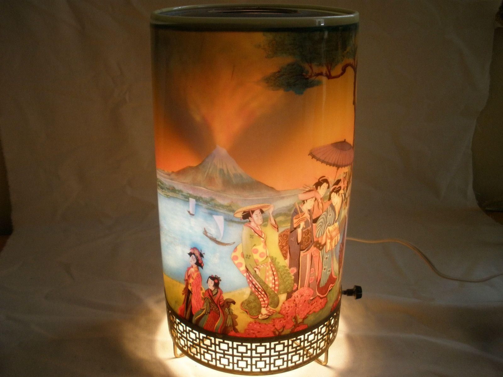 L A Goodman Mt Fuji Japan Motion Lamp 1957 Motion Lights Lamp Vintage Lighting