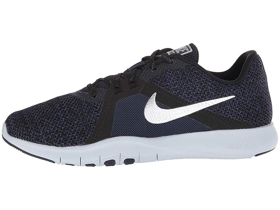 online store 163ee e4164 Nike Flex TR 8 Premium Womens Cross Training Shoes College NavyMetallic  SilverBlack