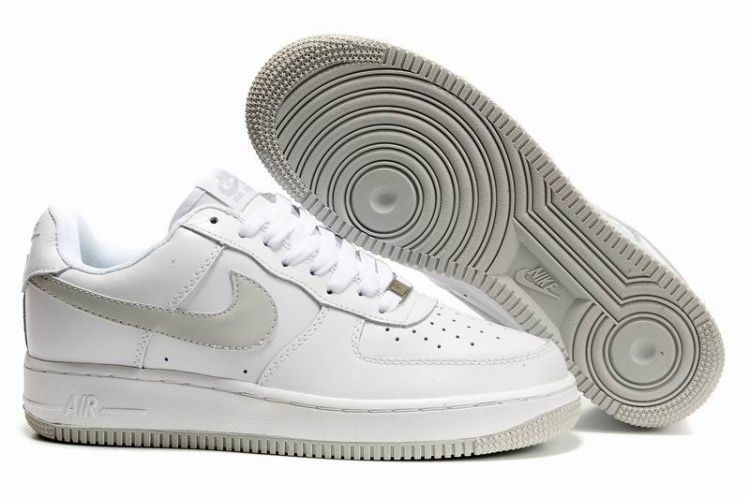Nike Air Force 1 Mens White Shoes Tech Grey
