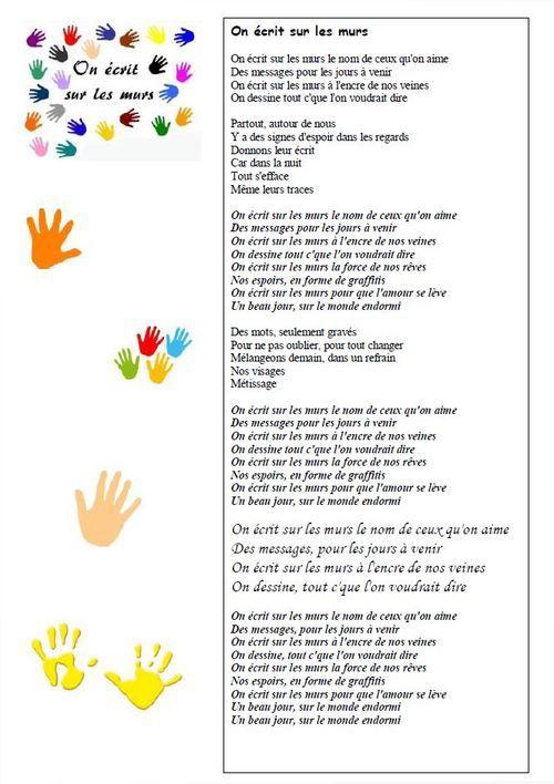 Chant Pour La Fête De L'école : On écrit Sur Les Murs