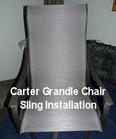 Carter Grandle Patio Or Pool Furniture Replacement Sling Installation.