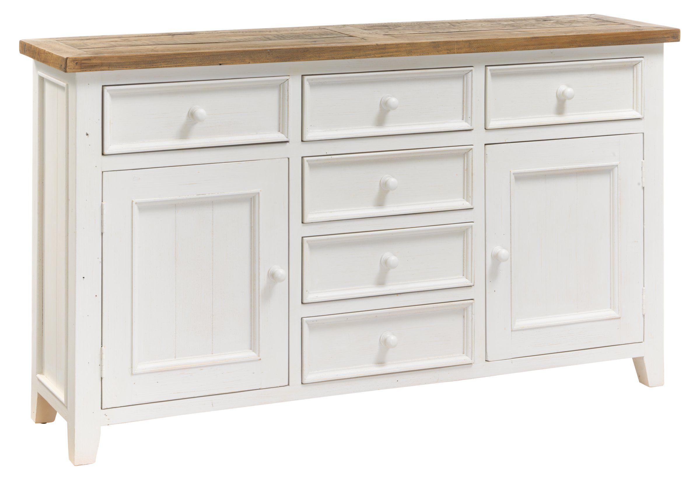Vintage möbel weiss braun  Sideboard BOTTA, Recycelte Kiefer massiv,vintage braun lackiert ...