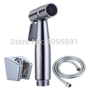 Maideer Sus 304 Stainless Steel Bidet Spray Shattaf With 1 5m Stainless Steel Shower Hose And Abs Wall Bracket Bidet Diaper Sprayer Bidet Faucets
