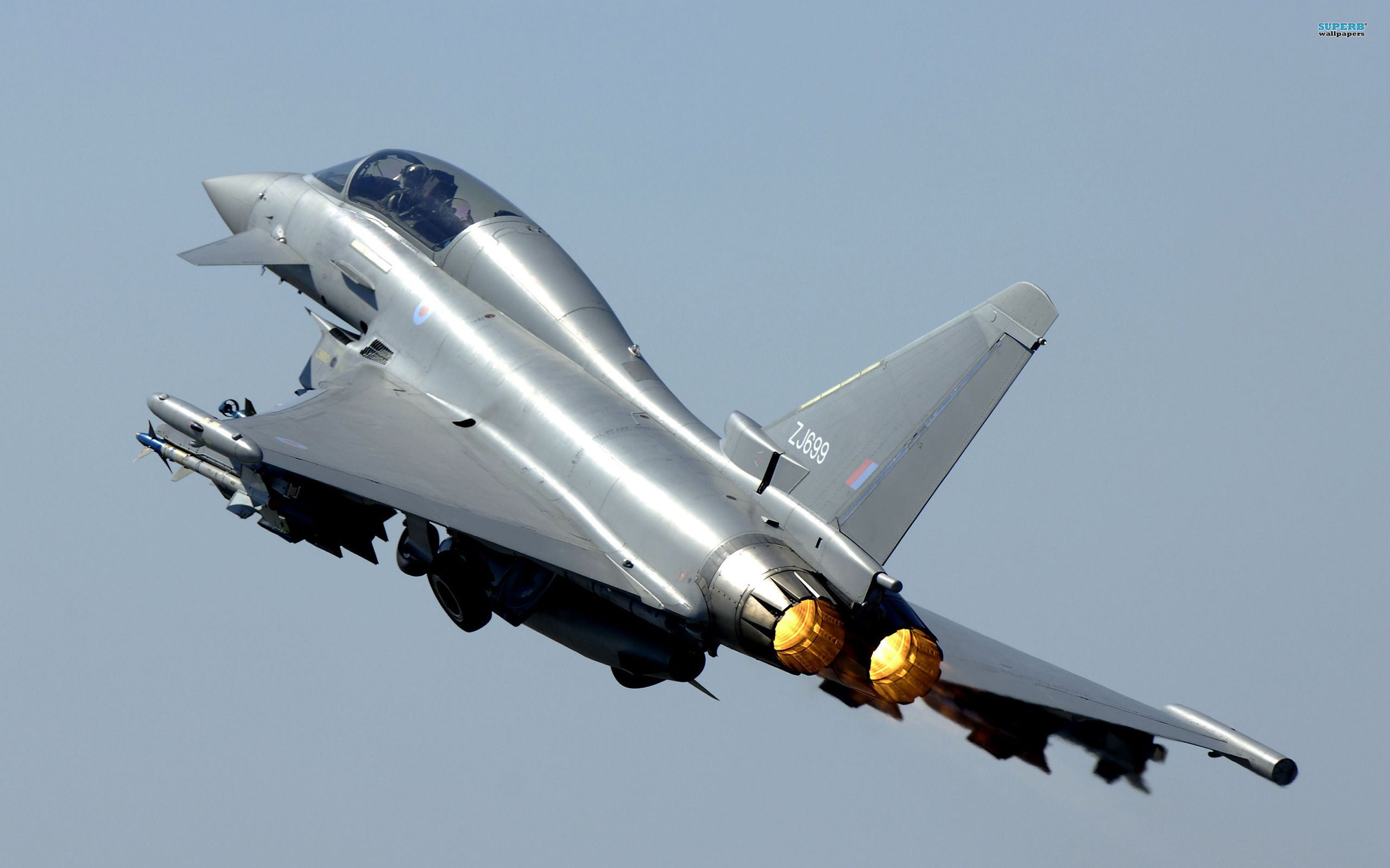 Обои fighter, military, eurofighter, Typhoon. Авиация foto 13