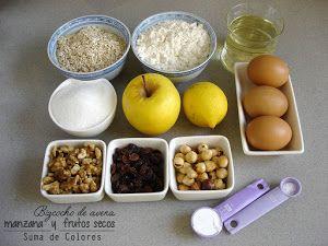 Bizcocho de avena y manzana - Ingredientes