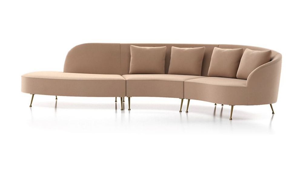 Bellevue 3 Piece Left Arm Chaise Serpentine Sectional Reviews Crate And Barrel Chaise Crate And Barrel Upholstered Furniture