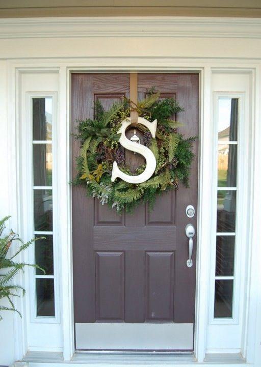 January Wreath Letter Wreath Christmas Wreaths Wreaths