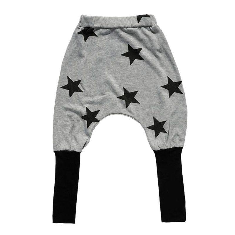 961a2250caee Toddler Kids Unisex Elastic Cotton Pants Five Star Print Baggy Harem Sweat  Pant https