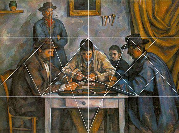 Geometrie des peintres, Paul Cézanne, les joueurs de cartes | Composition  art, Geometry art, Art