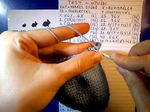Amigurumi Nyuszik : 49 nyuszi test 2 youtube húsvét pinterest amigurumi and