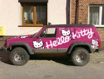 4937d5888 hello kitty jeep | Hello Kitty Everything | Hello kitty car, Pink ...