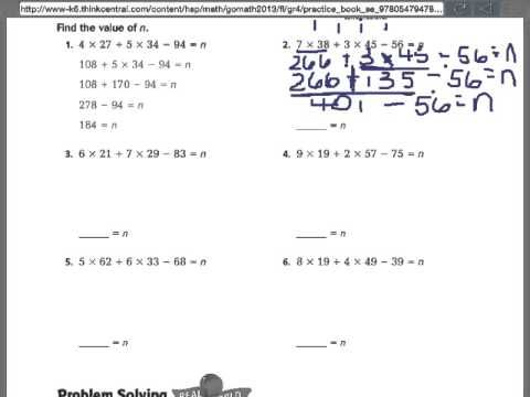 Practice And Homework Lesson 3 6 Answers 4th Grade