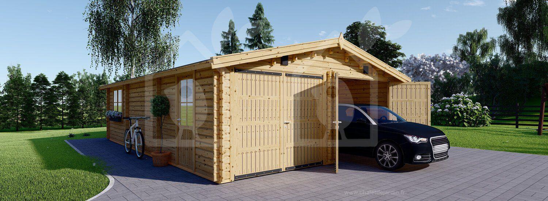 Construction Hangar Bois Prix garage en bois hangar 600x900 44mm 54m² | garage bois
